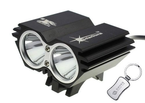 Solarstorm @ Bike Light 2*Cree Xm-L U2 4 Modes Led Dual Head Bicycle Light/Bicycle Front Light (Black) + A Keychain