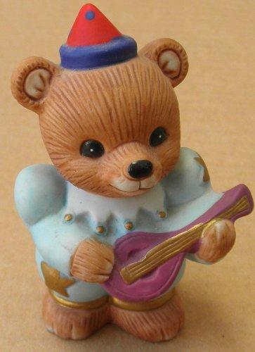 Homco Ceramic Bear Playing Guitar - 3 inches