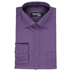 Magson Elite Men's Formal Shirt 1968096031_Purple_38