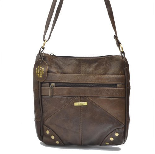 LADIES GENUINE LEATHER CROSS BODY BAG (REF3768)