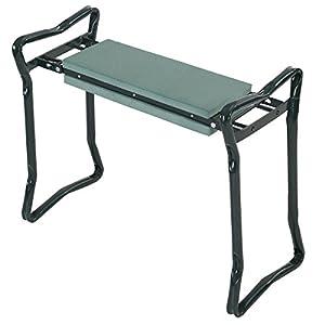 Goplus® Folding Sturdy Garden Kneeler Gardener Kneeling Pad & Cushion Seat Knee Pad Seat