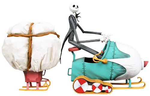 Tim Burton's The Nightmare Before Christmas - Action Figure Box Set: Jack & Snowmobile
