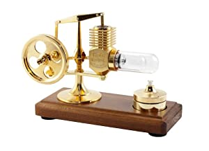 Inpro Solar 24ct Gold Plated Stirling Engine