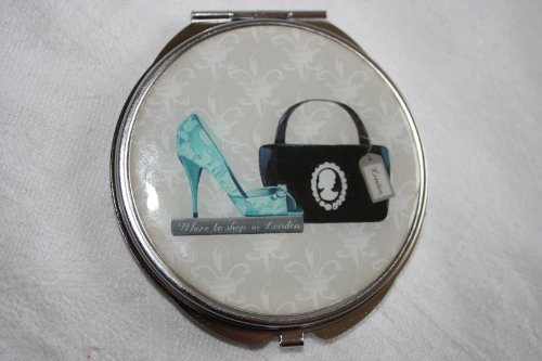 Tiffany Style Designer Ladies Compact / Make Up Mirror, Gift Boxed, Ideal Mothers Day Gift