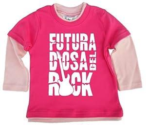 Dirty Fingers, Futura Diosa del Rock, Bebés camiseta de Rock con capas de Dirty Fingers