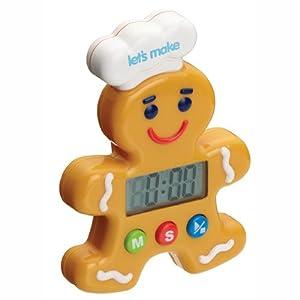 Kitchen Craft Let's Make Gingerbread Man Digital Timer
