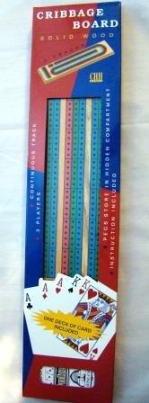 3 Color Track Cribbage wih Cards