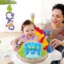 Baby and mom with jumperoo