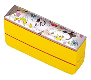 cute bento box with spoon and chopsticks made in japan lunch box. Black Bedroom Furniture Sets. Home Design Ideas
