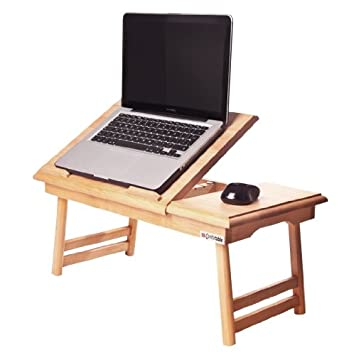 Table support reglable ordinateur pc portable plateau - Table de lit avec plateau inclinable pour ordinateur portable ...