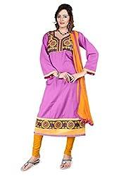 Shree Vardhman Synthetics Light Pink Semi Cotton Top Straight Unstiched Salwar Suit Dress Material