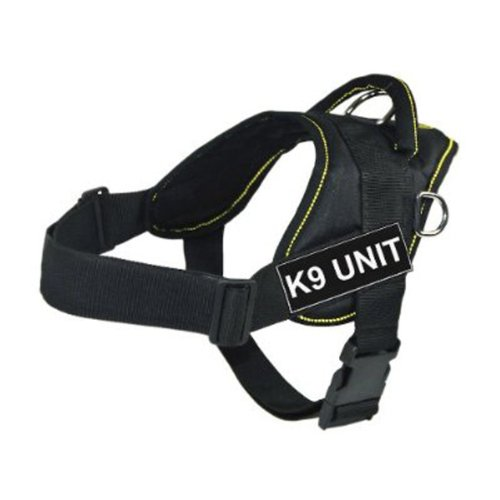 dt-fun-works-harness-k9-unit-black-with-yellow-trim-large-fits-girth-size-81cm-to-107cm
