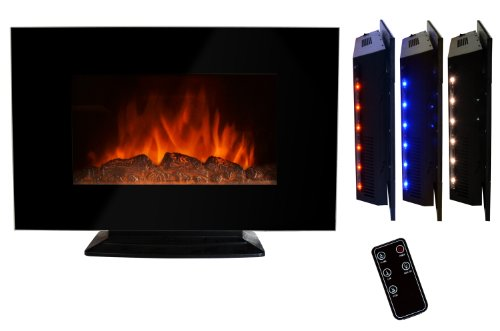 AKDY 36 inch Wall Mount Electric Fireplace Space Heater With Log/Remote And Floorstand AX510S-ELB image B00GXMWUC0.jpg