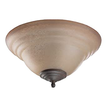 2 Light Bowl Light Kit Shade Color: Indian Scavo, Finish: Toasted Sienna Old World