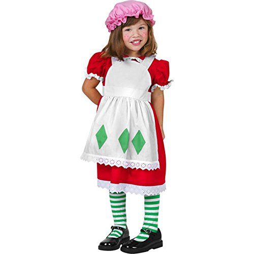 Toddler Strawberry Shortcake Halloween Costume (Size: 2T-4T)