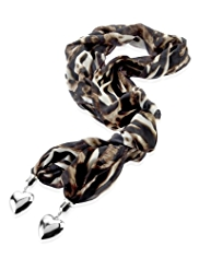 Per Una Animal Print Fabric Necklace