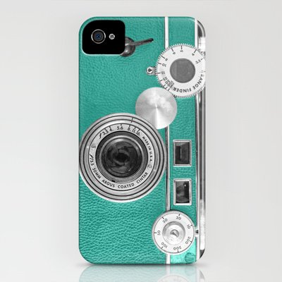Society6/ソサエティシックス iphone4/4S ケース Teal_retro_vintage_phone