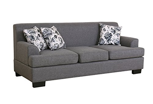 US Pride Furniture S5098-2PC 2 Piece Allen Modern Fabric Sofa & Loveseat Set, Grey
