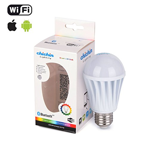Chichinlighting Smartphone Controlled E26 7W Led Bulb Iphone Controlled Wifi Led Bulb