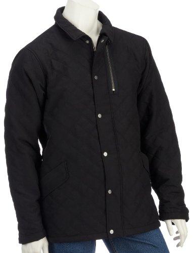 Drunknmunky Mens Crosshatch Jacket Black - Small