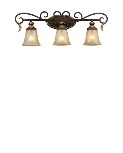 Artistic Lighting Regency 3-Light Vanity Bar, Burnt Bronze