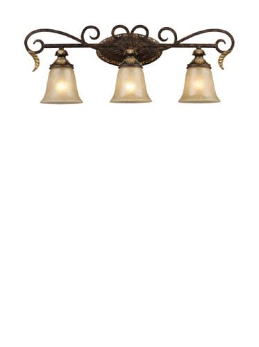 Artistic Regency 3-Light Vanity Bar, Burnt Bronze