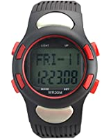 FORESEEX® Strapless Heart Rate Monitor Sports Wrist Watch with Pedometer Calorie Counter - Backlight Water Resistant 2 Alarms Countdown Timer Chronograph