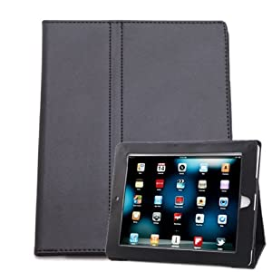 HDE® Black Magnetic Folding Cover Case Stand for iPad 1st Generation