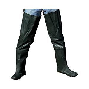 Academy broadway 703109 rubber hip wader 10 for Fishing waders amazon