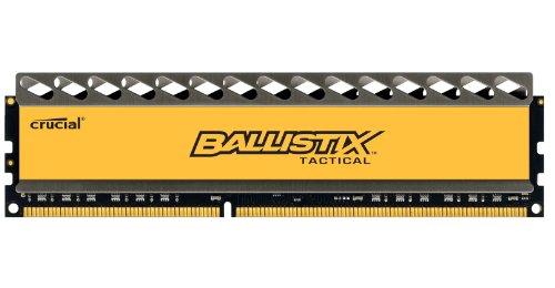 Crucial Ballistix Tactical 4 GB RAM DDR3, 1600 MT/s, PC3-12800, CL8, 1.5V, UDIMM 240-Pin