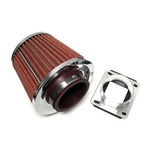 84-95 BMW 318i 318is Air Intake Filter Kit + Mass Air Flow Sensor Adapter (Bmw 318i Air Flow Sensor compare prices)