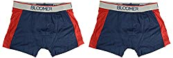 Bloomer Clothings Men Cotton Trunk (style_3038_2BL_L, Blue, L) (Pack of 2)