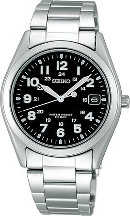 セイコー Seiko Spirit Military Quartz SBCA001 Stainless Steel Men's Watch (Japan Import) 男性 メンズ 腕時計 【並行輸入品】