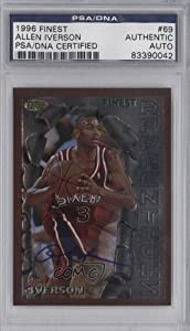 Allen Iverson PSA DNA Certified Auto AUTHENTICATED AUTHENTIC Philadelphia 76ers... by Finest