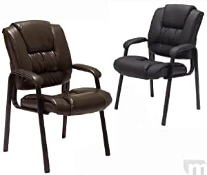 chairs in brown or black reception room chairs office products