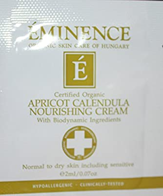 Eminence Apricot Calendula Nourishing Cream 6 Samples Foil Sample Travel Size 0.07fl Oz Each