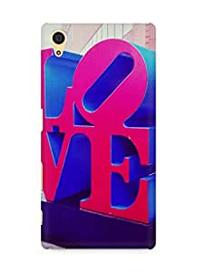 AMEZ designer printed 3d premium high quality back case cover for Sony Xperia Z5 (love)