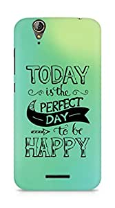 AMEZ today is the perfect day to be happy Back Cover For Acer Z630S