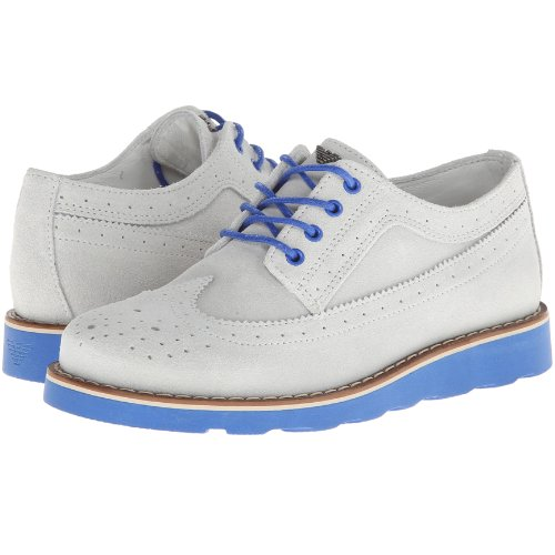 Armani Junior: Boys Grey And Blue Dress Shoes (29) front-777717