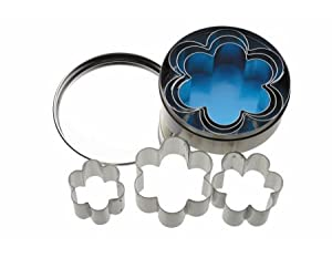 Kitchen Craft 6-Flower Shaped Cutters With Metal Storage Tin