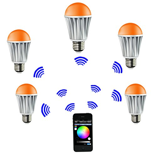 Xcsource® 7.5W E27 Wifi Rgb Smart Led Bulb, Full Colors 16 Million Colors & Jump And Blink Function, Brightness Dimmable Downlight Lamp Light Bulb Ld316