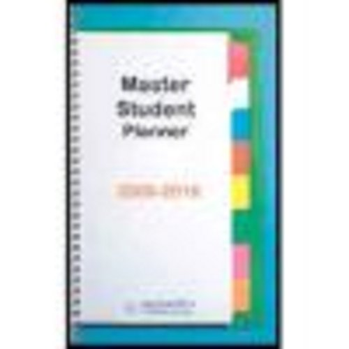 Becoming a Master Student Planner 2009-2010