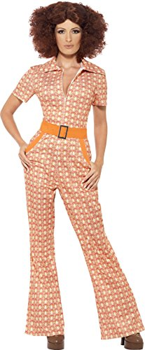 Smiffy's Women's Authentic 70's Chic Costume, Multi, Medium