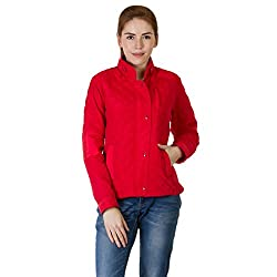 Burdy Full Sleeve Women's Polyester Blend Jacket for Casual and Stylish Look