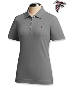 Atlanta Falcons Ladies Ladies Ace 100% Cotton Polo Grey Heather by Cutter & Buck