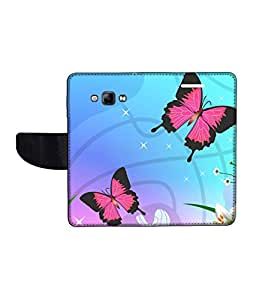 KolorEdge Printed Flip Cover For Samsung Galaxy A8 Multicolor - (1479-55KeMLogo11286SamA8)