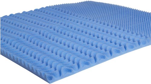 Carpenter Colorful Memory Foam Twin/Twin XL Mattress Topper, Blue