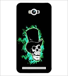 PrintDhaba Skull with Hat D-1199 Back Case Cover for ASUS ZENFONE MAX ZC550KL (Multi-Coloured)