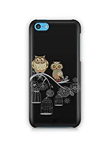 YuBingo Two Owls on a Tree Branch Mobile Case Back Cover for Apple iPhone 5C