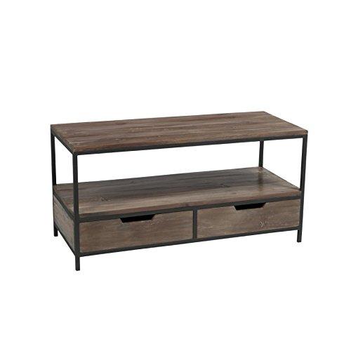 Mobile TV legno lordo e metallo nero